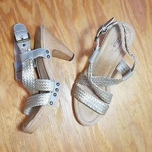 GH Bass braided ankle strap heeled Sadie sandals